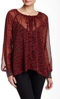 Jessica Simpson Printed Embellished Cuff Tunic