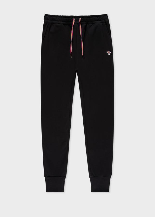 Thumbnail for your product : Paul Smith Women's Black Zebra Logo Organic-Cotton Sweatpants