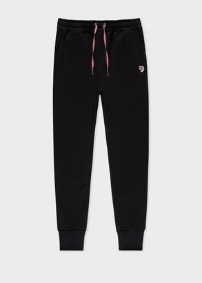 Paul Smith Women's Black Zebra Logo Organic-Cotton Sweatpants