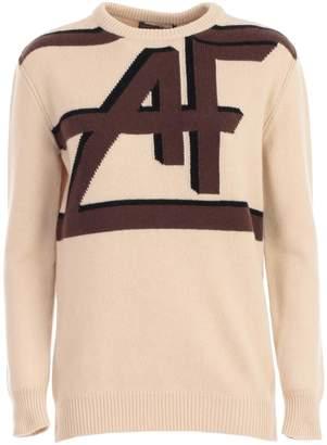 Alberta Ferretti Sweater L/s Round Neck W/print