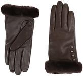 UGG Art Deco Stud Smart Gloves w/ Short Pile Trim