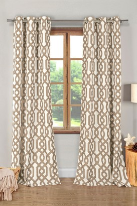 Duck River Textile Ashmont Printed Textured Panel Curtains - Set of 2 - Taupe