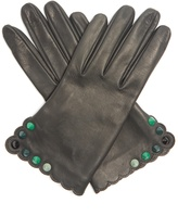 Fendi Studded leather gloves