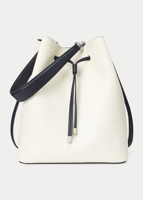 Ralph Lauren Leather Debby Drawstring Bag