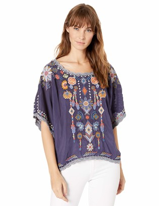 Johnny Was Women's Cropped Top with Embroidery