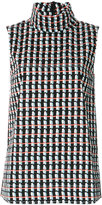Marni ripple print sleeveless top