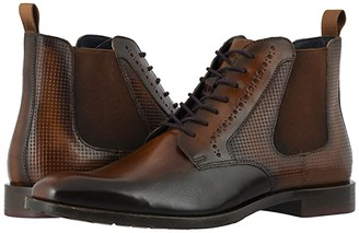 Stacy Adams Rupert Plain Toe Gore Boot (Black) Men's Shoes