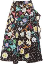 Peter Pilotto Japanese floral-print cloqué midi skirt