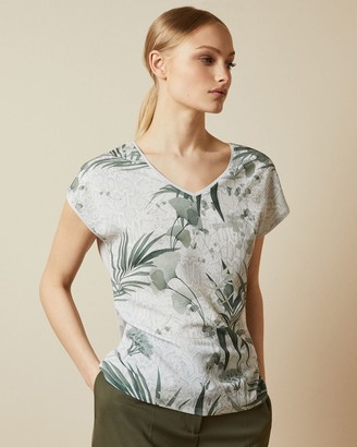 Ted Baker Highland Woven Front T-shirt