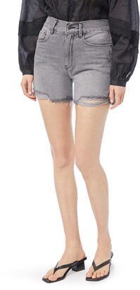 Frame Le Tour High Waist Raw Edge Hem Denim Shorts