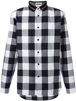 Christian Dior polo collar checked shirt - men - Cotton - 38