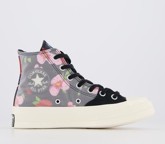 Converse Hi 70s Trainers Black Multi Egret Floral Exclusive