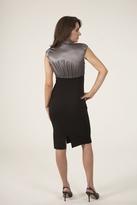 NU Collective High Waist Pencil Dress in Metal/Black