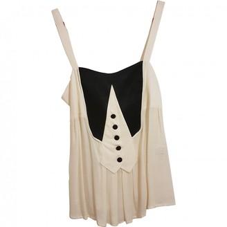 Byblos Beige Cotton Top for Women