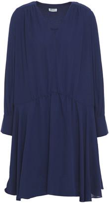 Kenzo Gathered Crepe De Chine Mini Dress