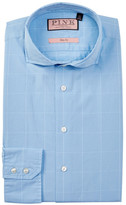 Thomas Pink Hallward Slim Fit Windowpane Dress Shirt