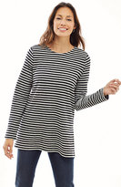J. Jill Striped Button-Shoulder Tunic