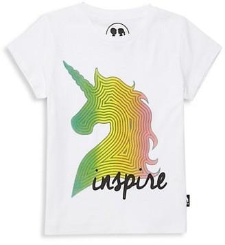 Boy Meets Girl Little Girl's & Girl's Inspire Unicorn Graphic T-Shirt