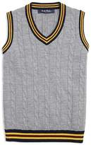 Brooks Brothers Boys' Collegiate Cable-Knit Sweater Vest - Big Kid