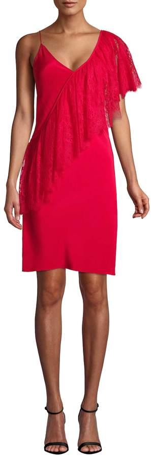 Diane von Furstenberg Women's Lace-Accented Sheath Dress