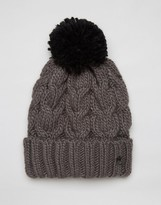 French Connection Cable Bobble Hat