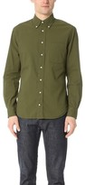 Gitman Brothers Long Sleeve Olive Over Dye Seersucker Shirt