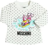 Moschino Polka Dot Print Heavy Cotton T-Shirt