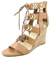 Fergie Finnick Open Toe Synthetic Wedge Heel.