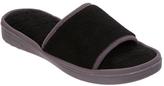 Dearfoams Women's Microfiber Terry Slide Slipper w/ Wave Quilt Sock