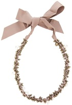 Lanvin Ribbon and bead necklace