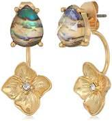 lonna & lilly Gold Tone Flower Drop Earrings