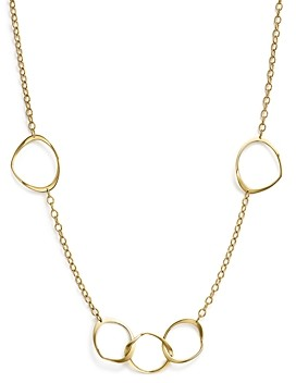 Bloomingdale's 14K Yellow Gold Interlocking Wavy Circle Necklace, 18 - 100% Exclusive
