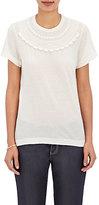 Comme des Garcons Women's Lace Appliquéd Jersey T-Shirt-TAN
