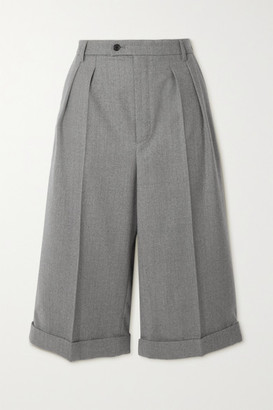 Saint Laurent Wool-twill Shorts - Gray