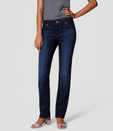 LOFT Curvy Straight Leg Jeans in Dark Stonewash