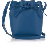 Mansur Gavriel Blue-lined Mini Mini leather bucket bag