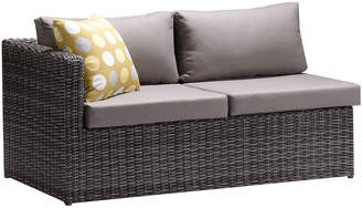 Armen Living Hagen 3Pc Outdoor Rattan Sectional Chase Set