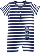 Kushies Navy Stripe Nautical Romper - Infant