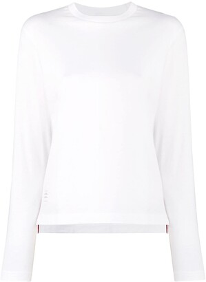 Thom Browne Long Sleeve Relaxed Fit Jersey Tee