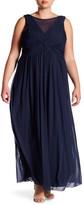 Marina Shirred Bodice Long Gown (Plus Size)