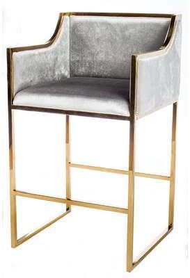 Everly Quinn Pelkey Erin Gold Bar Chair Quinn Leg Color: Gold