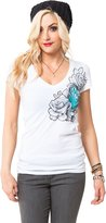 Metal Mulisha Metal Muliha Women' Dani G Tempet V-Neckhortleeve T-hirt-mall