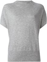 Vince cap sleeve knitted blouse
