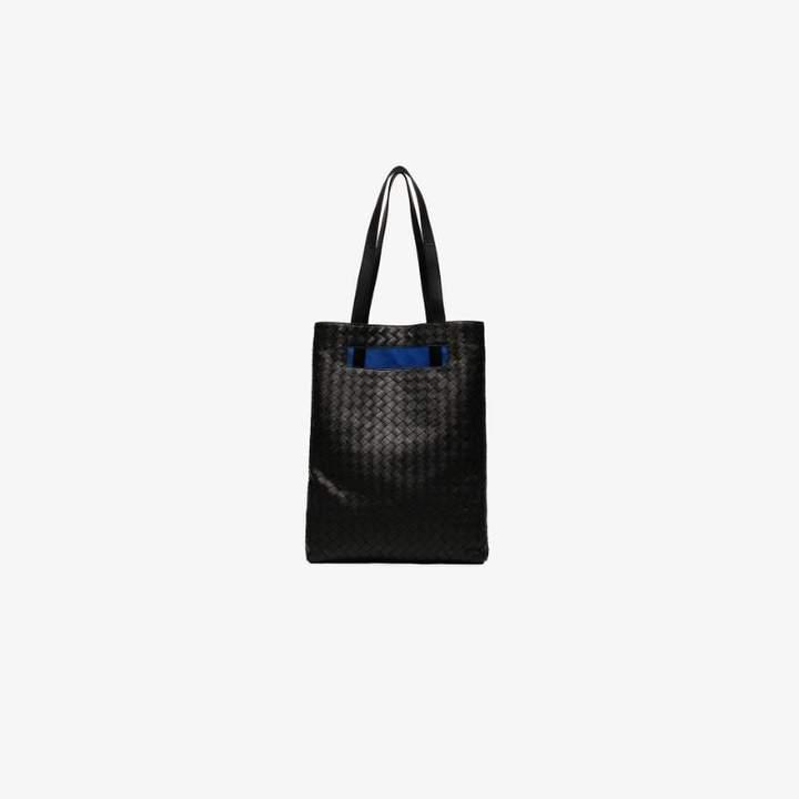 Bottega Veneta Black woven leather shopper bag
