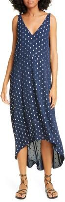Ted Baker Printaa Dotted Midi Slip Dress