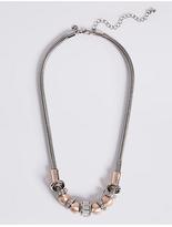 M&S Collection Baguette Rondelle Necklace