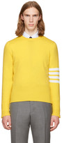 Thom Browne Yellow Classic Crewneck Pullover
