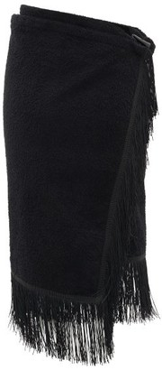 Gabriel For Sach - Pareo Fringed Cotton-terry Sarong - Womens - Black