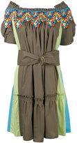 Peter Pilotto bardot guipare lace trim dress - women - Cotton/Polyester - 8