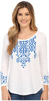 Lucky Brand Tile Embroidered Tee